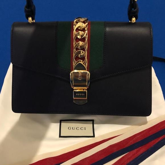 c3c4c665356 Gucci Handbags - AUTHENTIC NEW GUCCI Sylvie Leather Shoulder Bag